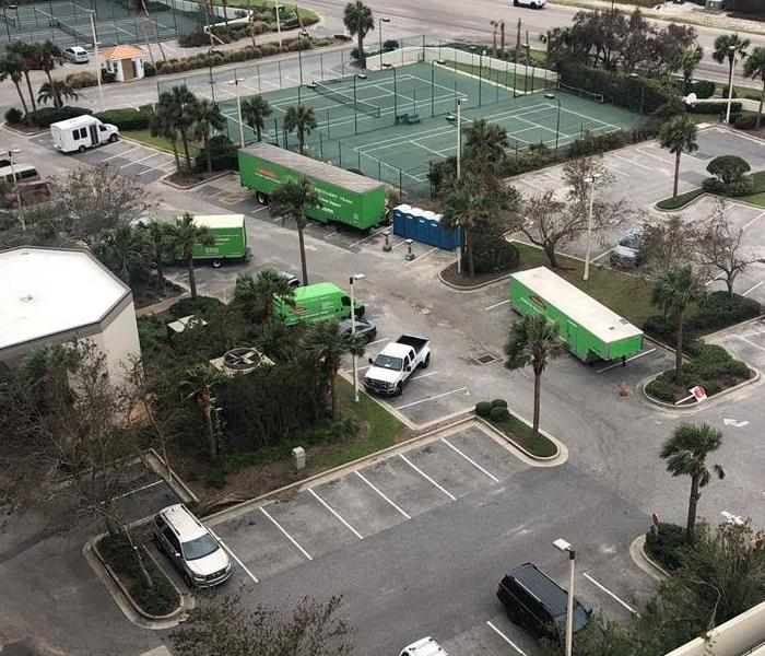 SERVPRO Trucks in Parking Lot